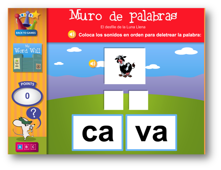 Spanish Phonics Practice for emergent Spanish readers