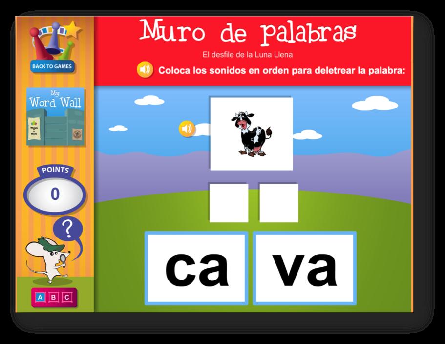 Spanish Phonics Practice for emergent Spanish readers
