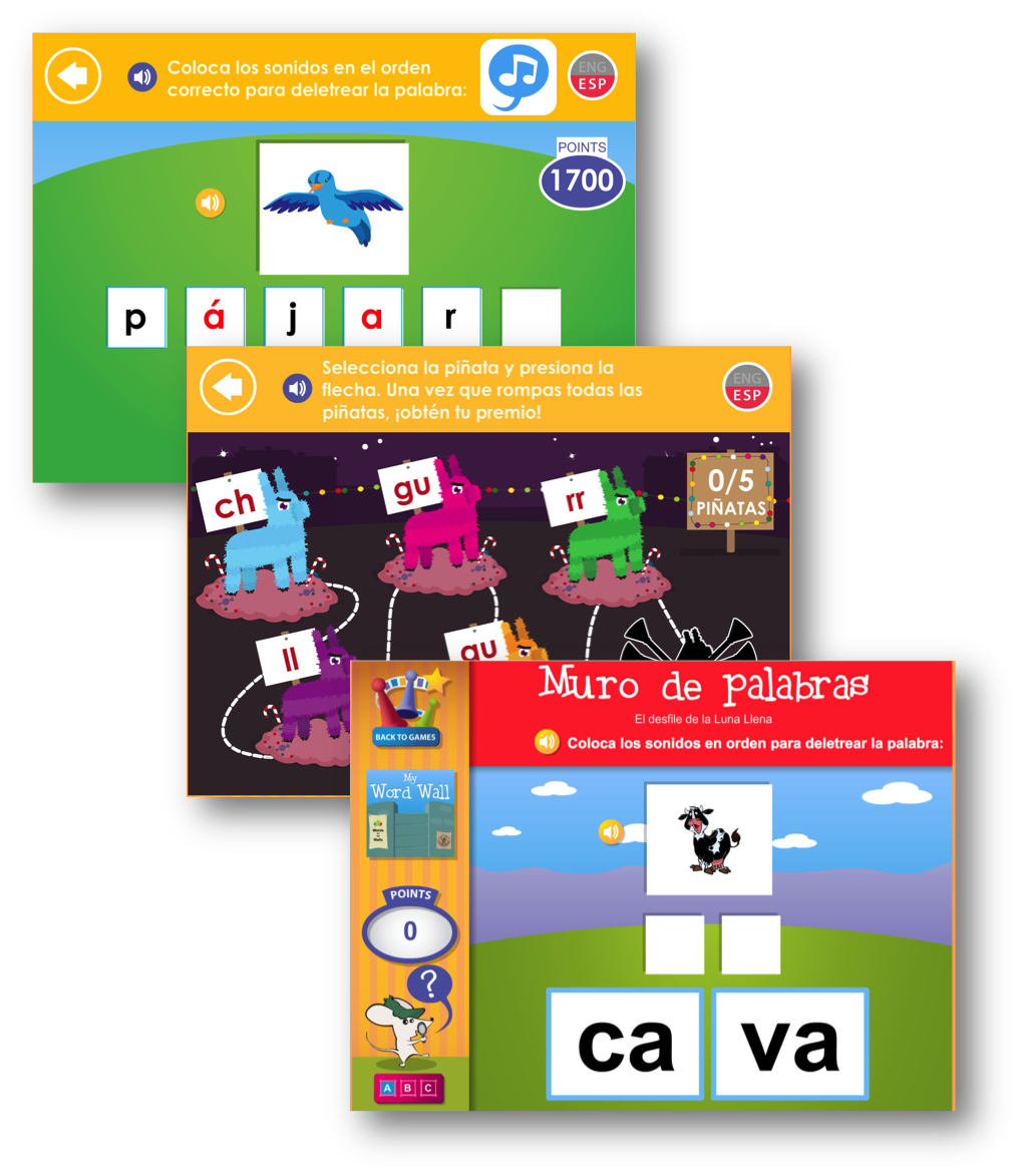 Hundreds of Spanish Phonics Games in Footsteps2Brilliance