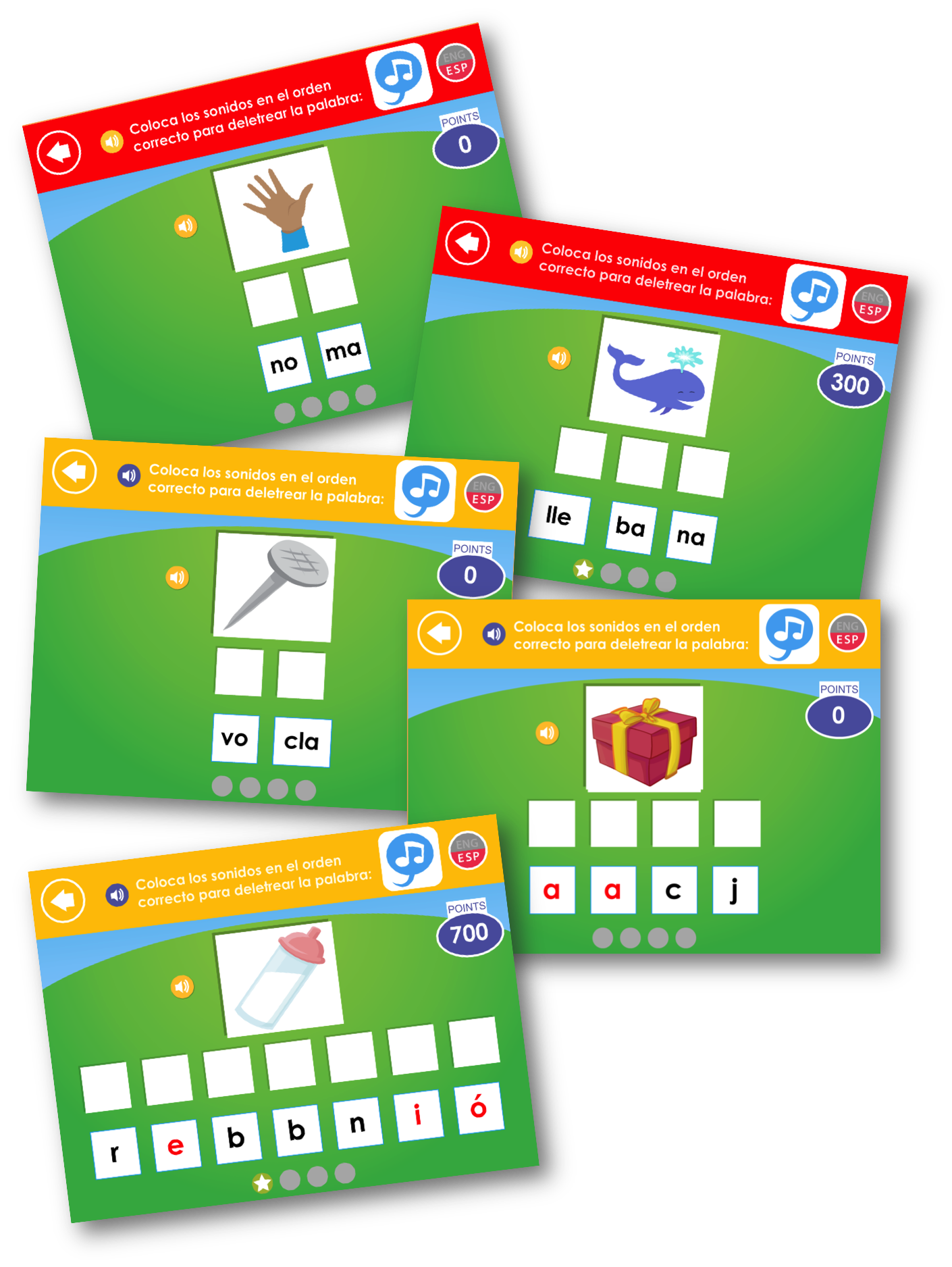 Spanish Syllables and Phonemes taught in Footsteps2Brilliance